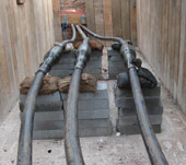 High voltage cable laying and jointing, cable installation