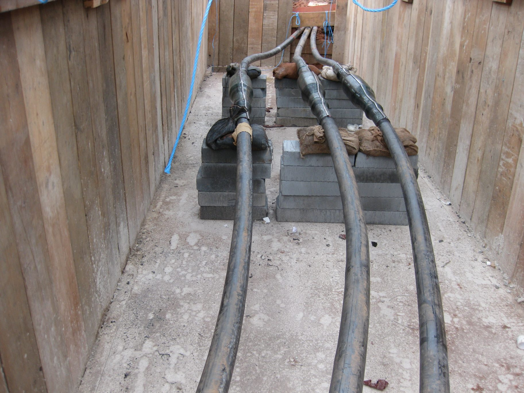 high voltage cable laying
